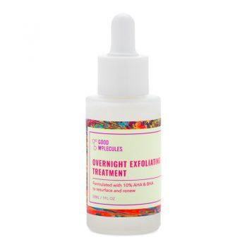 GOOD MOLECULES Serum de nuit Exfoliant au 10% AHA et BHA
