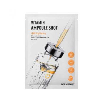 DERMATORY Vitamin Ampoule Shot Masque en Tissu Eclat