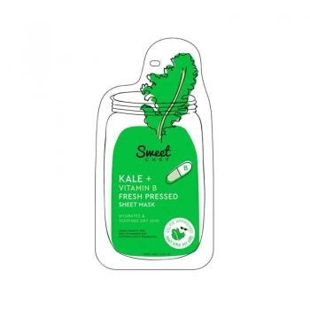 SWEET CHEF Kale + Vitamin B Masque en Tissu Frais Hydratant et Lissant